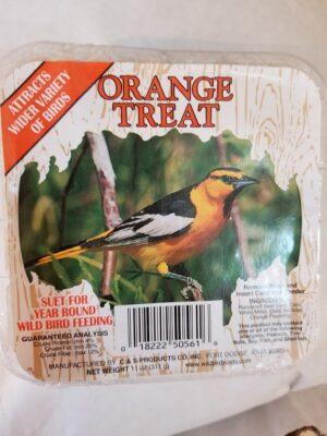 orange treat suet
