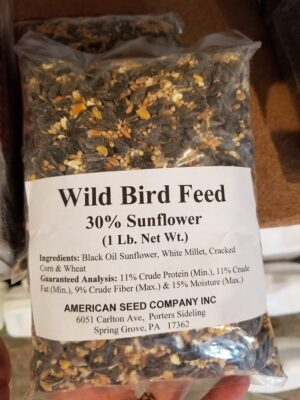 wild bird feed 30% sunflower