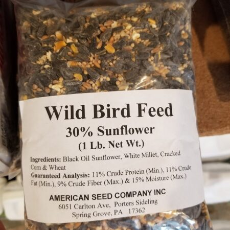 wild bird feed 30% sunflower